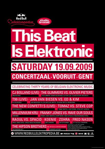 This Beat is Elektronic - Sat 19-09-09, Kunstencentrum Vooruit