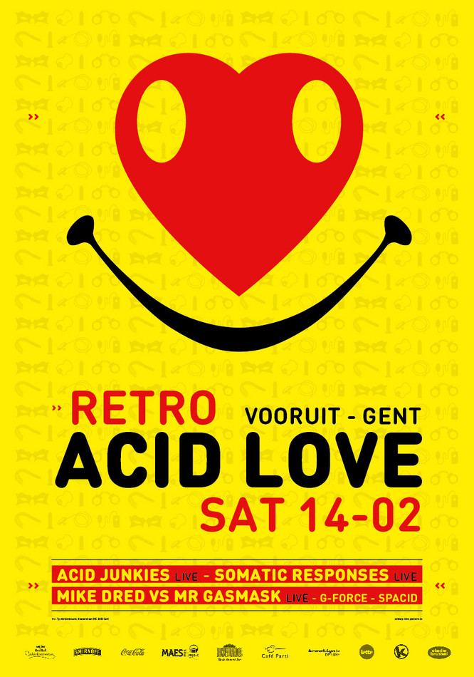 Retro Acid - Sat 14-02-15, Kunstencentrum Vooruit