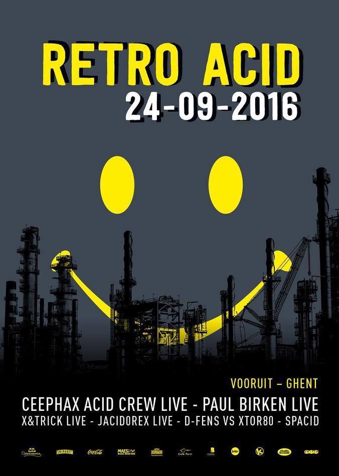 Retro Acid - Sat 24-09-16, Kunstencentrum Vooruit